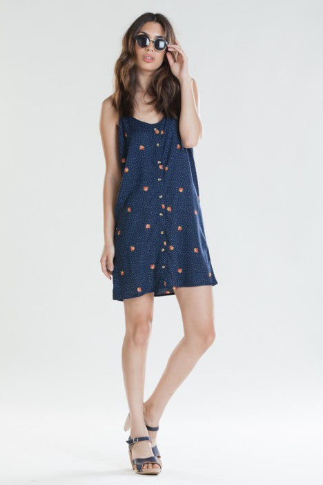 OBEY - Alanis Women's Dress, Navy - The Giant Peach - 1
