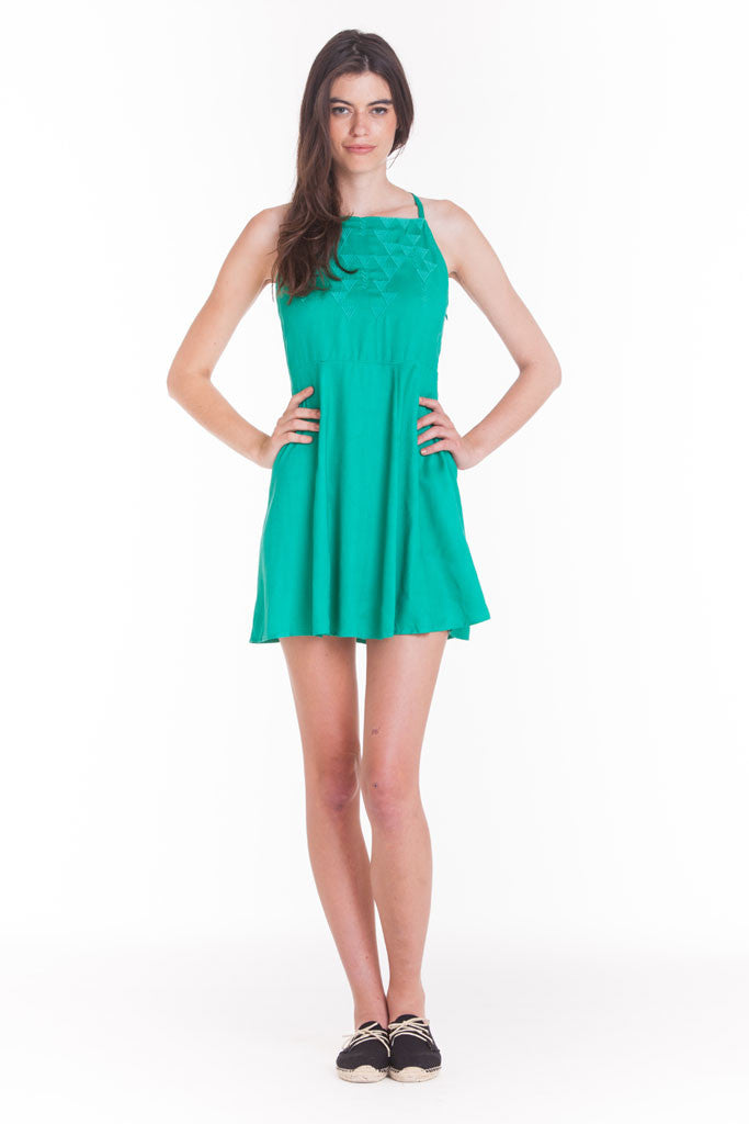 OBEY - Max Dress, Viridis Green - The Giant Peach