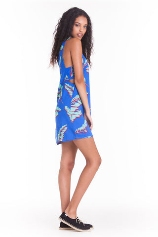 OBEY - Fenix Dress, Blue Multi - The Giant Peach - 1