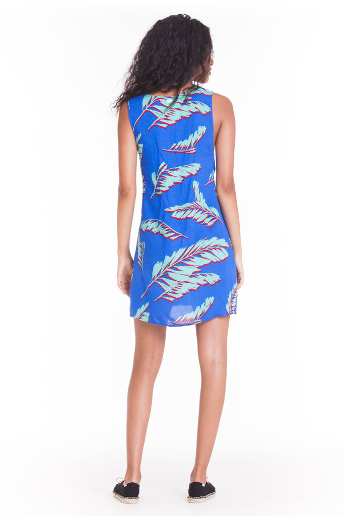 OBEY - Fenix Dress, Blue Multi - The Giant Peach - 2