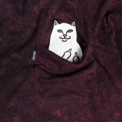 RIPNDIP - Lord Nermal Men's L/S Pocket Tee, Blood Wash