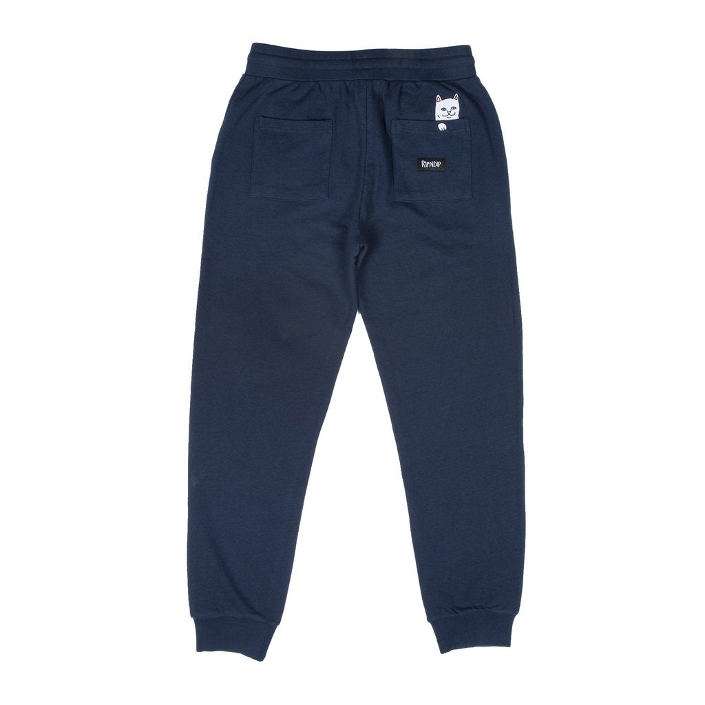 RIPNDIP - Peek A Nermal Men's Sweatpants, Navy