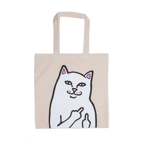 RIPNDIP - OG Lord Nermal Tote Bag, Natural Canvas - The Giant Peach