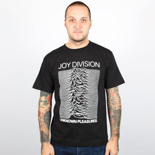 Joy Division - Unknown Pleasures Men's Shirt, Black - The Giant Peach