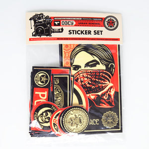 OBEY - Urban Renewal Assorted Sticker Pack - The Giant Peach