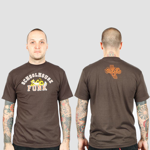 Schoolhouse Funk - Men's Shirt, Brown - The Giant Peach