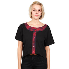 HELLZ BELLZ! - Shove It Women's Top, Black - The Giant Peach