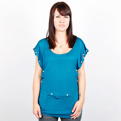 HELLZ BELLZ! - Trouble Sleeveless Women's Top, Blue - The Giant Peach