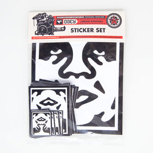 OBEY - Andre Icon Face Sticker Pack, Assorted - The Giant Peach