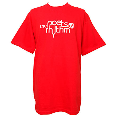 Poets of Rhythm - Logo Men's Shirt, Red - The Giant Peach