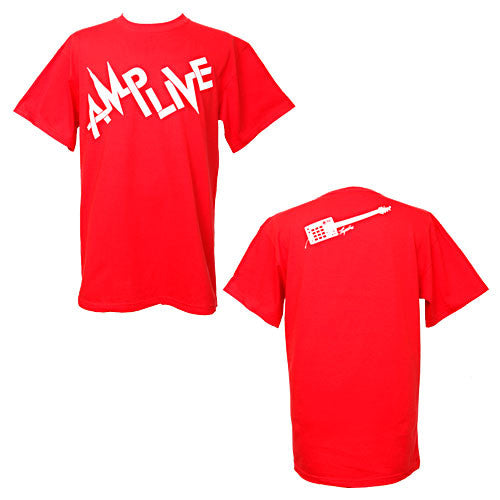 DJ Amp Live - MPC Men's Shirt, White/Red - The Giant Peach