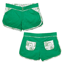 Dub Wise - Lion Women's Knit  Shorts, Green - The Giant Peach