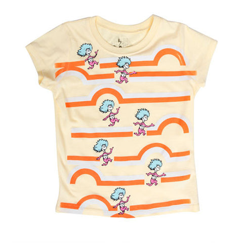 Dr. Seuss - Thing 1 Thing 2 Toddler & Kid's Tee, Light Yellow