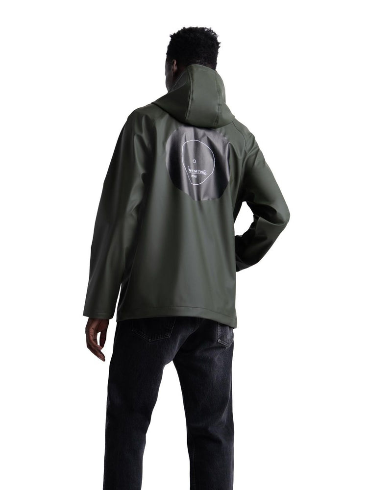 Herschel Supply Co. x Basquiat - Rainwear Classic Men's Jacket, Basquiat Dark Olive/Record