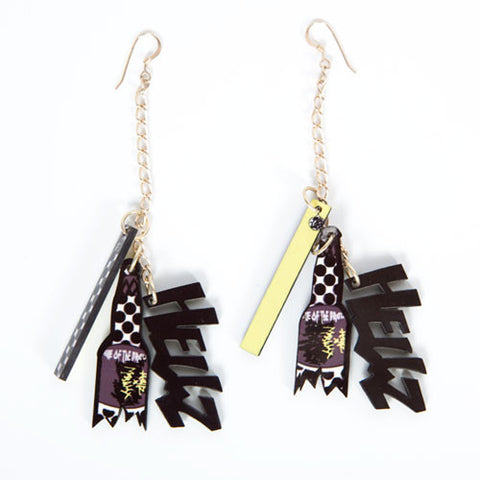 Miss Wax x HELLZ BELLZ! Earrings, Gold