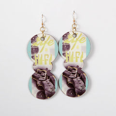 Miss Wax - High Fidelity Earrings, Gold - The Giant Peach