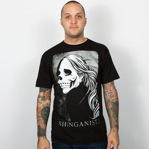 Shinganist - Usugrow Fade to Black Men's Shirt, Black - The Giant Peach