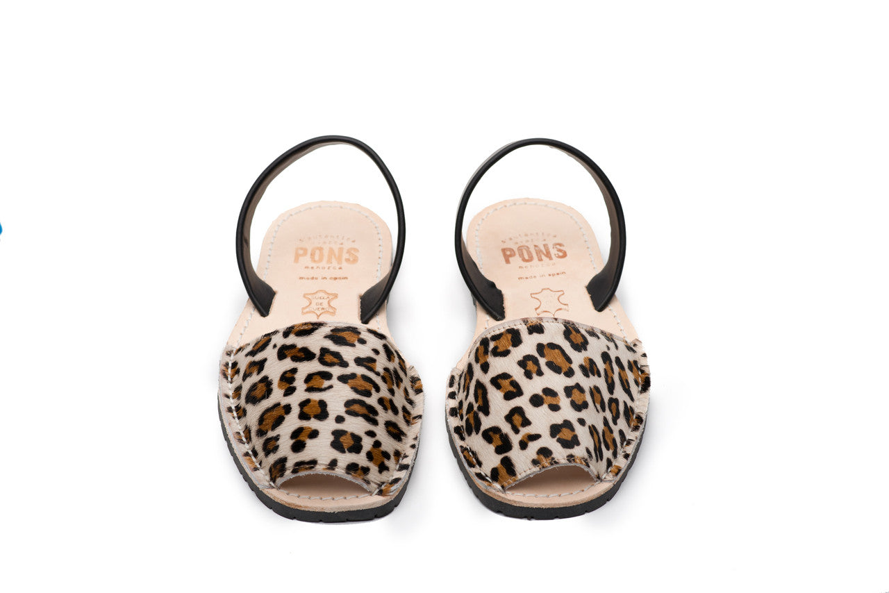 Pons Avarcas - Classic Style Animal Print, Leopard - The Giant Peach - 2