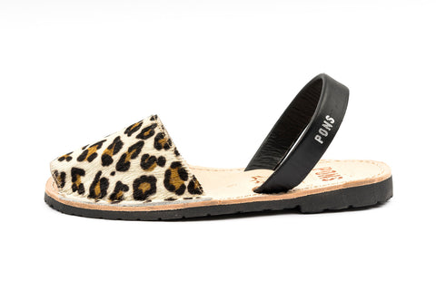 Pons Avarcas - Classic Style Animal Print, Leopard