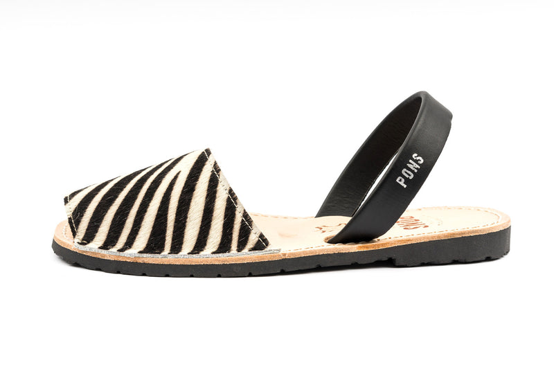 Pons Avarcas - Classic Style Animal Prints, Zebra - The Giant Peach