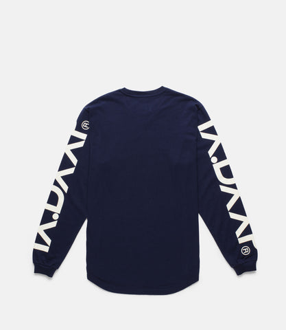 10Deep - Ironside Scoop Bottom Men's L/S T-Shirt, Navy
