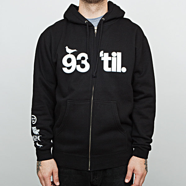 Adapt x Souls of Mischief - 93 'til Infinity Men's Zip Hoodie, Black - The Giant Peach