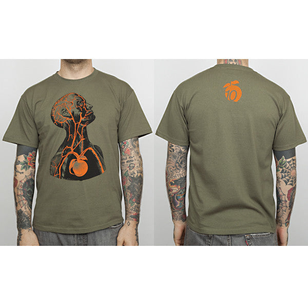 "The Giant Peach - ""10th Anniversary"" Runs Deep Men's Shirt, Army Green - The Giant Peach"