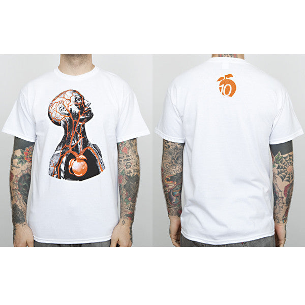 "The Giant Peach - ""10th Anniversary"" Runs Deep Men's Shirt, White - The Giant Peach"