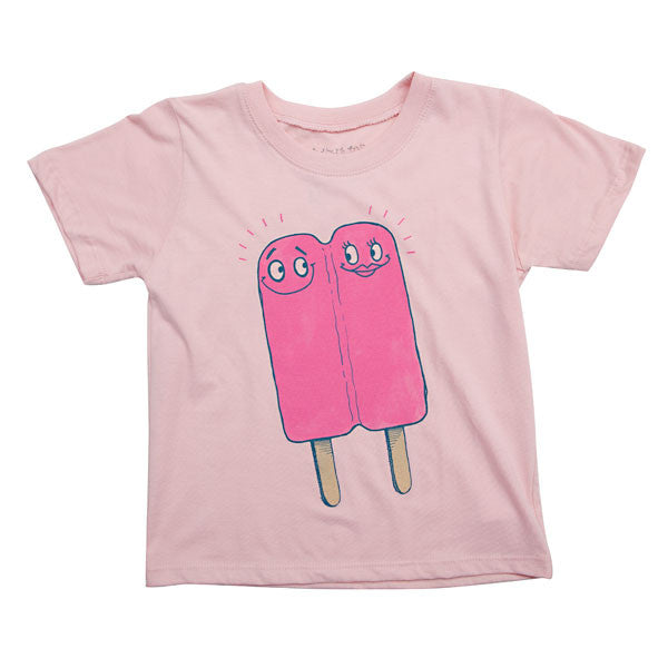 Mini Rotation - Lovesicle Toddler Tee, Pale Pink - The Giant Peach