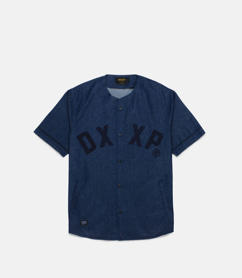 10Deep - Barn League Baseball Jersey, Indigo Denim - The Giant Peach