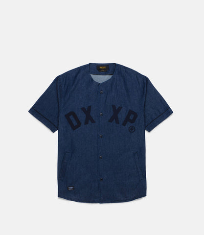 10Deep - Barn League Baseball Jersey, Indigo Denim - The Giant Peach - 1