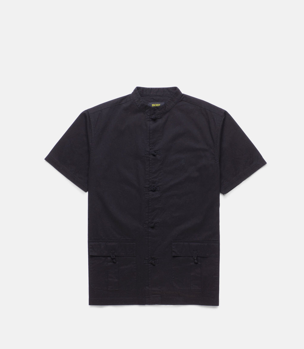 10Deep - Bonzai S/S Men's Work Shirt, Black - The Giant Peach
