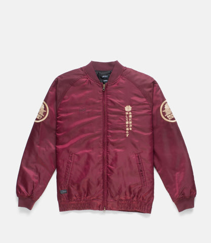 10Deep -  Night Rider Men's Jacket, Burgundy