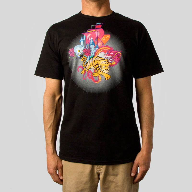 Twelve Grain by Sam Flores - Tiger Castle Men's Tee, Black - The Giant Peach
