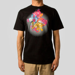 Twelve Grain by Sam Flores - Tiger Castle Men's Tee, Black - The Giant Peach - 1
