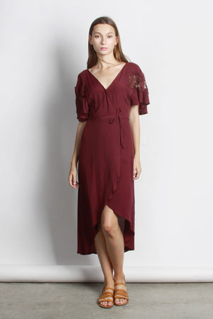 MOD REF - The Amber Dress, Burgundy