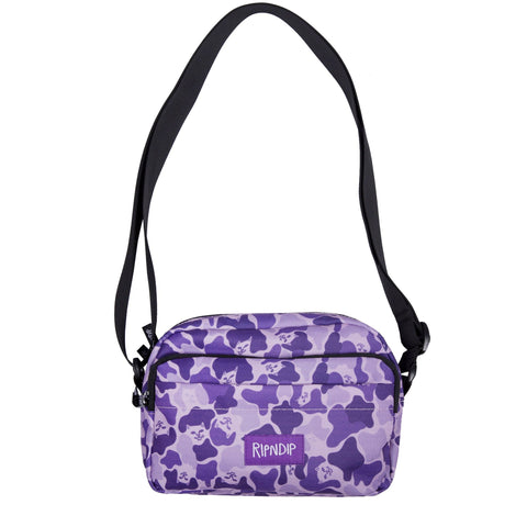 RIPNDIP - Invisible Shoulder Bag, Purple Camo