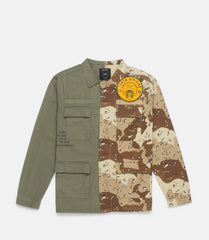 10Deep - Vintage Split Military Men's Shirt, Multi - The Giant Peach