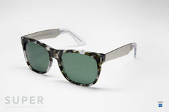 SUPER by Retrosuperfuture - Classic Silver Francis Puma Sunglasses - The Giant Peach