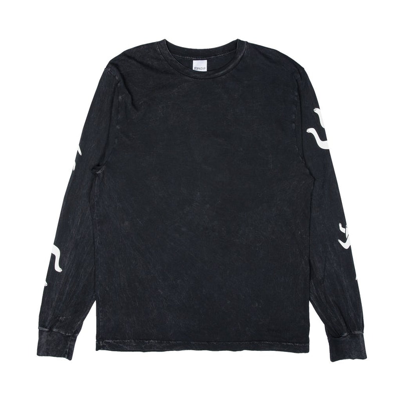 RIPNDIP - Zipperface Men's L/S Tee, Black Mineral Wash