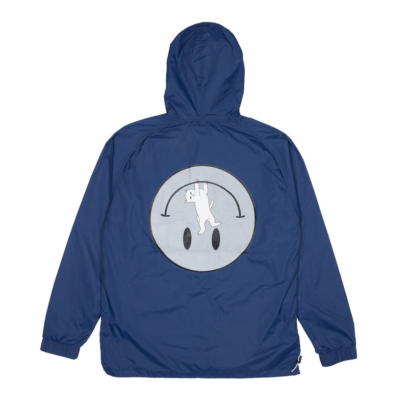 RIPNDIP - Everything Will Be OK Men's Anorak Jacket, 3M/Navy - The Giant Peach