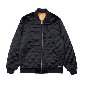 RIPNDIP - Praying For Nermal Men's Quilted Reversible Jacket, Black/Yellow