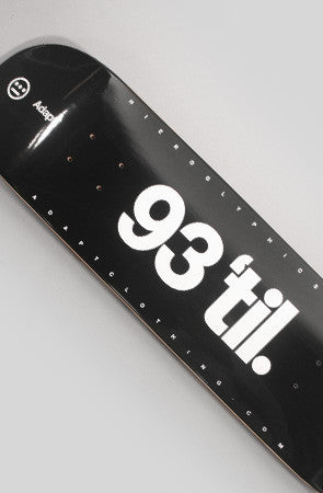 Adapt x Hieroglyphics - 93 til Skateboard Deck, Black - The Giant Peach