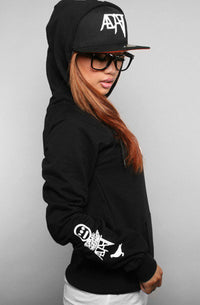 Adapt x Souls of Mischief  - 93 'til Pullover Women's Hoodie, Black - The Giant Peach