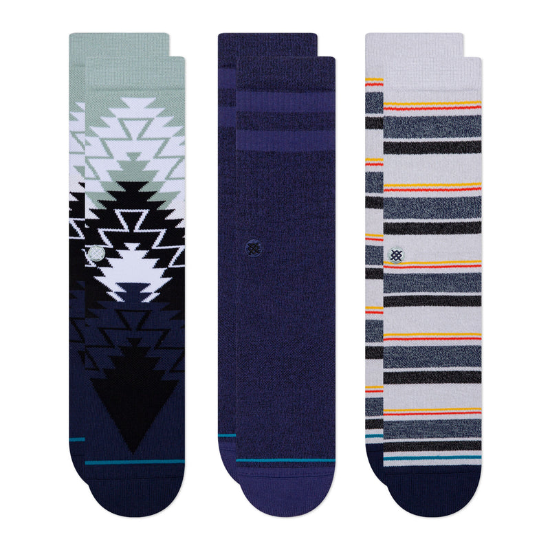 Stance - Platte 3 Pack Men's Socks, Navy