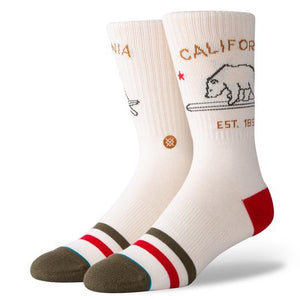 Stance - California Republic Men's Socks, Cream
