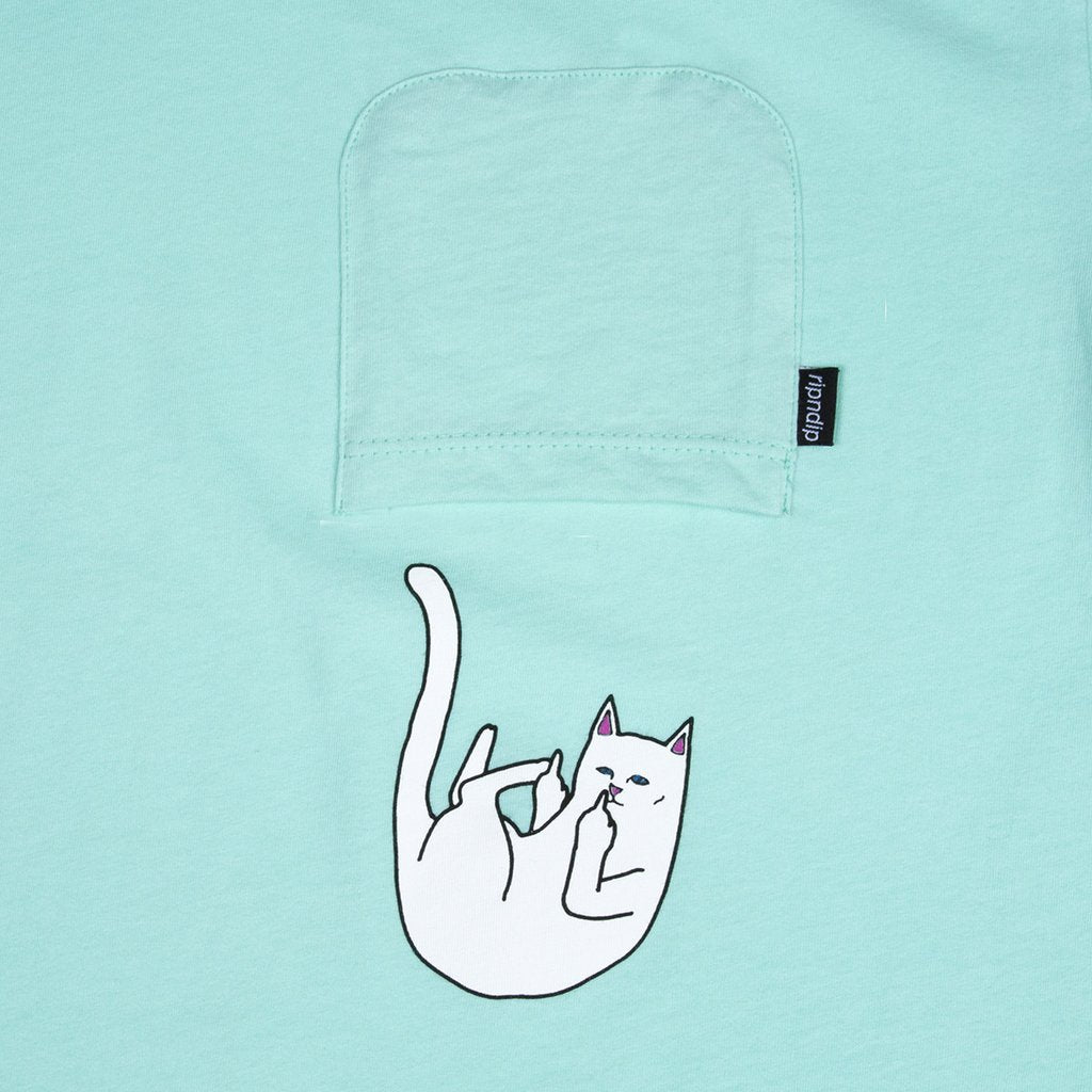 RIPNDIP - Falling For Nermal Men's Pocket Tee, Mint - The Giant Peach