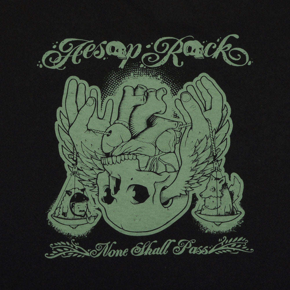 Aesop Rock - None Shall Pass Men's Shirt, Black - The Giant Peach - 3