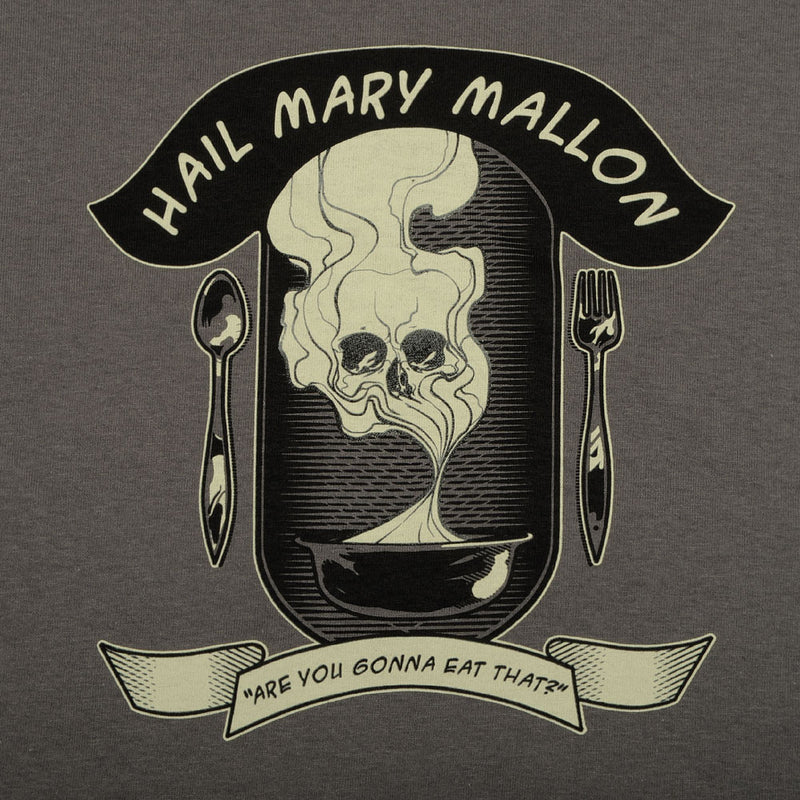 Hail Mary Mallon - Are You Gonna Eat That? Men's Shirt, Charcoal - The Giant Peach