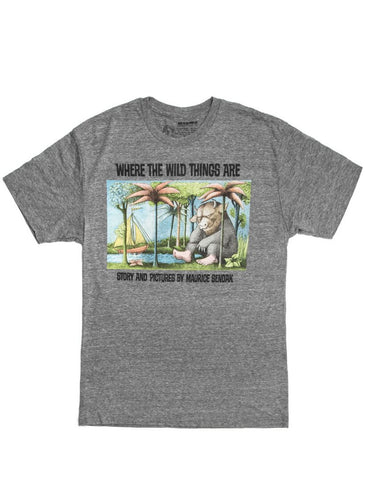 Out Of Print - Where The Wild Things Are Men's Shirt, Heather Grey